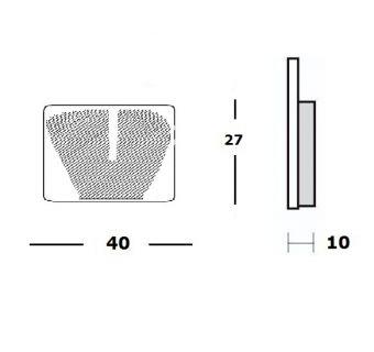 Bromsbelägg (LPI) H27mm x B40mm
