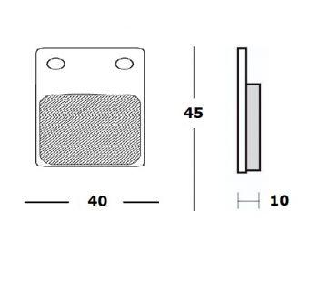 Bromsbelägg (LPI) H45mm x B41mm CC28mm - Loncin 300 Fram,Ten7 Bak, Gepard