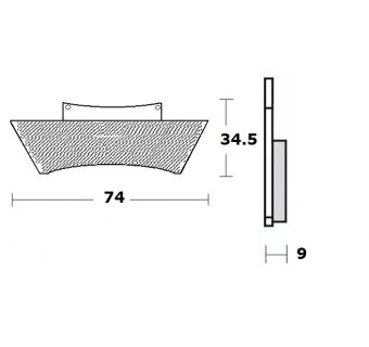 Bromsbelägg (LPI) H35mm x B74mm