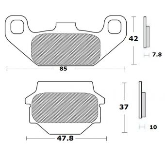 Bromsbelägg (LPI) H37mm x B85mm / H37mm X 42mm