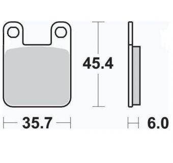 Bromsbelägg (LPI) H45mm x B36mm