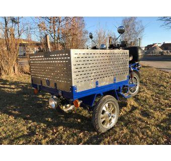 Lastkorg (förhöjningssidor) i rostfri Aluminium 40cm