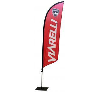 Viarelli Strandflagga inkl. fästen